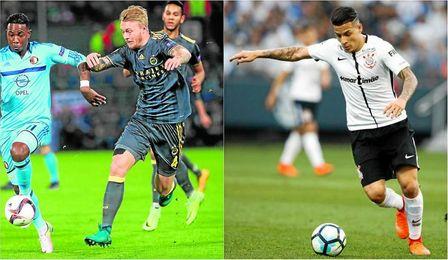 Kjaer, con el Fenerbahçe; Arana, con el Corinthians.