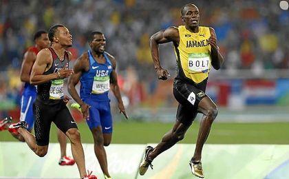 Usain Bolt, compitiendo en los JJ.OO. de Río.
