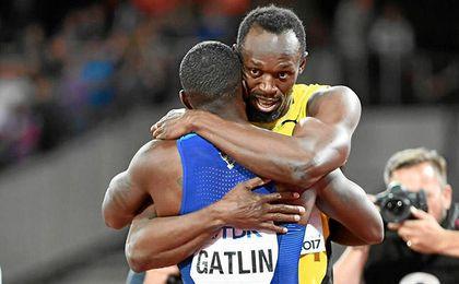 Gatlin y Coleman derrotan a Bolt en el último 100 del jamaicano