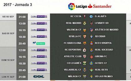 Sevilla-Eibar, el sábado 9 de septiembre a las 18:30