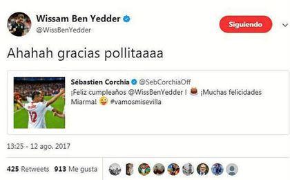 'Sevillanía' entre Corchia y Ben Yedder