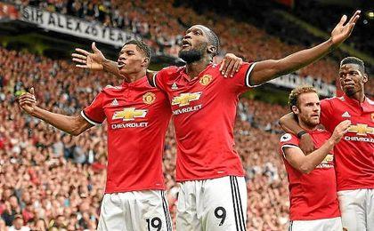 Lukaku ha hecho dos de los cuatro goles del United ante el West Ham.
