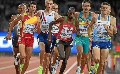 El español Mechaal acabó cuarto en la final de 1500 metros.