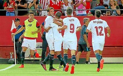 Imagen del encuentro inaugural de LaLiga 2016/17, también entre el Sevilla y Espanyol.