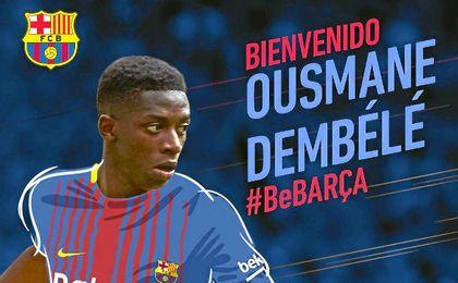 Oficial: Dembélé al Barcelona por 105 millones más 42 en variables