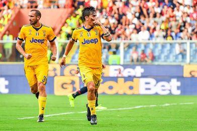 Tres goles de Dybala y uno de Cuadrado permiten al Juventus triunfar en Génova