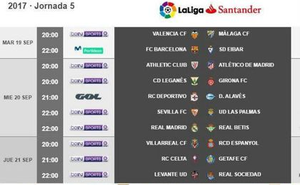 Horario para la visita al Madrid; contra el Levante, en lunes