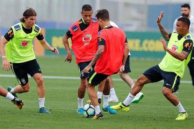 Brasil se entrena por primera vez para los partidos ante Ecuador y Colombia