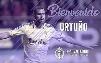 El delantero Alfredo Ortuño completa la plantilla del Real Valladolid