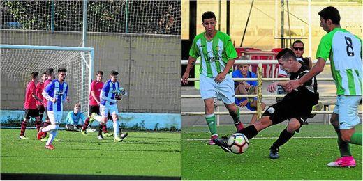Ezequiel ha empezado el curso como lo acabó: goleando; Lance del único partido sin goles, el Calavera-Cazalla Sierra.