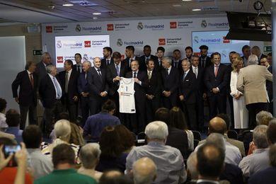 Florentino presenta a la Universidad Europea como patrocinador del baloncesto
