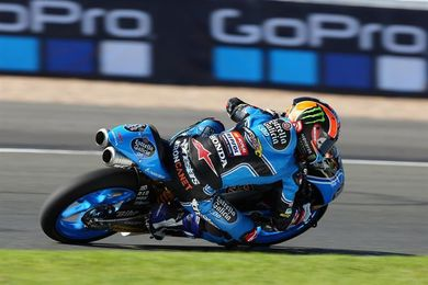 Canet comienza mandando en Moto3 con la pista secándose de la lluvia