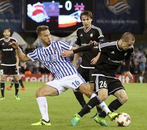 4-0. Dos goles de Diego Llorente remarcan la goleada de la Real
