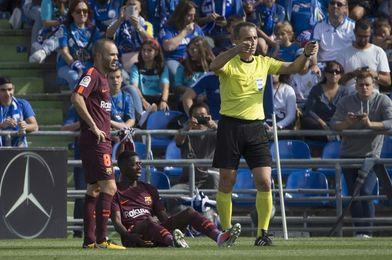 Dembélé se lesiona en Getafe y es sustituido por Deulofeu