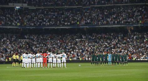 El Bernabéu homenaje a las víctimas del terremoto de México