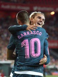 """Carrasco: """"No sé como me vio (Griezmann) en el gol estando de espaldas"""""""