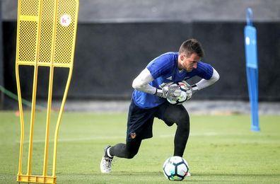 El meta Neto, único valencianista que ha disputado todos los minutos en Liga