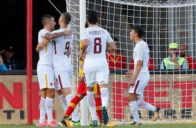 El Roma golea 4-0 en Benevento y se acerca a la zona europea de la tabla