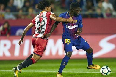El Barcelona gana al descanso (0-1) gracias a un autogol de Aday