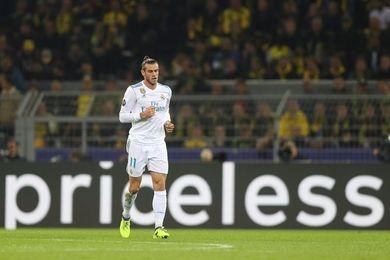 Bale pone con ventaja al Real Madrid al descanso