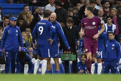 Morata sufre una lesión muscular durante el Chelsea-Manchester City