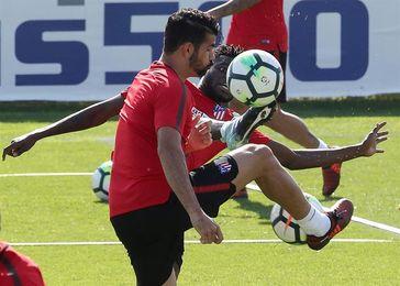 Entrenamiento físico para el Atlético, Diego Costa sigue su pretemporada