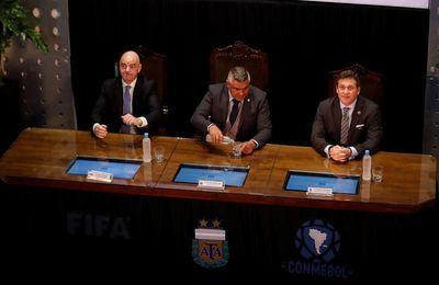 """Infantino: """"Gracias a Argentina el fútbol hoy es lo que es"""""""