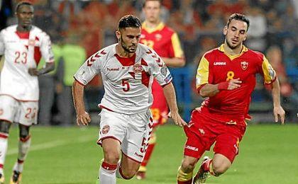 Durmisi jugó 47 minutos en el Montenegro-Dinamarca.