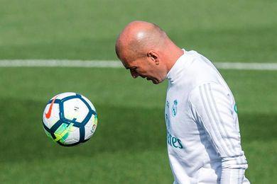 El juvenil Moha novedad en una sesión con la presencia de Florentino Pérez