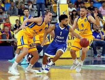 97-87. La mayor rotación del Gran Canaria facilita el triunfo ante Zenit