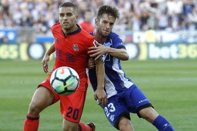 0-2. La Real resuelve el derbi ante el Alavés con dos goles en el tramo final