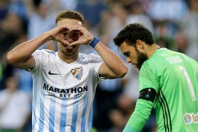 Ontiveros, novedad en el Málaga tras dos semanas apartado por indisciplina
