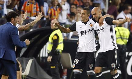 El Valencia no sumaba quince puntos en cinco partidos seguidos desde 2011