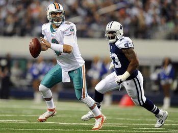 31-28. Moore reemplaza a Cutler y conduce el triunfo de los Dolphins