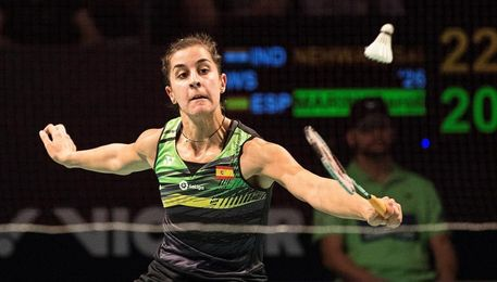 Carolina Marín , eliminada en octavos de final
