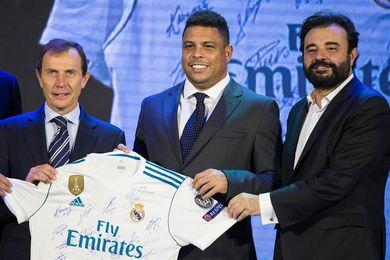 Ronaldo Nazario y Butragueño promocionan la imagen del Real Madrid en China