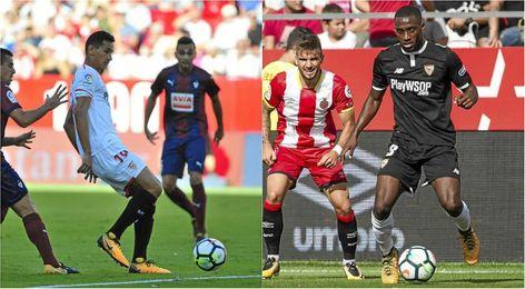 La afición por Ganso y Carole como titulares ante el Leganés.