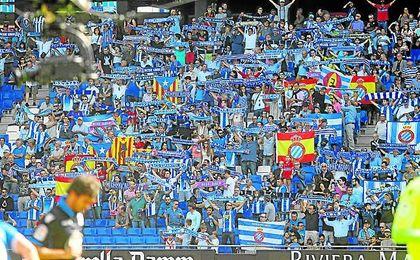 El Espanyol ha pedido a sus seguidores que sólo lleven al estadio banderas blanquiazules.