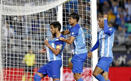El Málaga llegó a temer por los tres puntos.