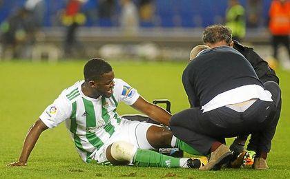 Campbell sufrió un duro golpe al final del partido ante el Espanyol.