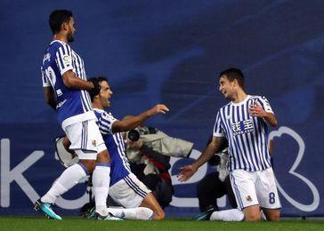 3-1. El Eibar sigue gafado en Anoeta y se queda a dos puntos del descenso