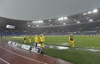 Aplazan el partido Lazio-Udinese de la Serie A por la fuerte lluvia