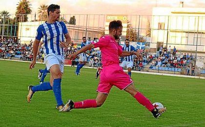 Lance del partido entre el Écija Balompié y el Córdoba B en San Pablo.