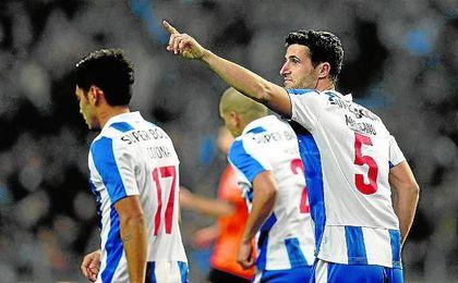 Marcano celebra un gol con el Oporto.