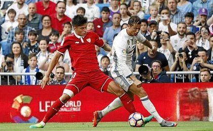Correa y Cristiano, en el Real Madrid-Sevilla de la pasada temporada.