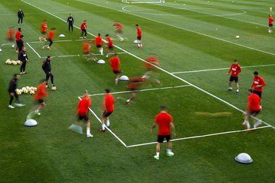 El Atlético comienza la semana del derbi con trabajo táctico