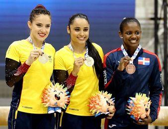 Colombia consigue dos oros bolivarianos más en las pruebas de gimnasia femenina