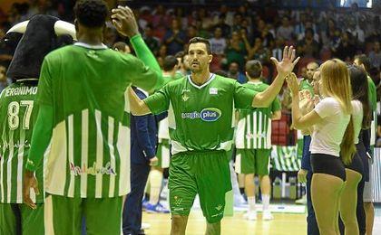 Alfonso Sánchez, en un partido en San Pablo esta temporada.