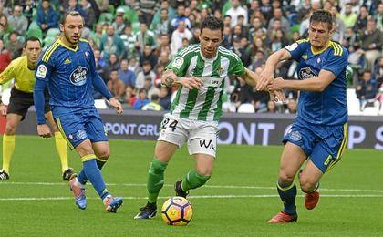 Rubén Castro, la temporada pasada en el partido ante el Celta de Vigo.