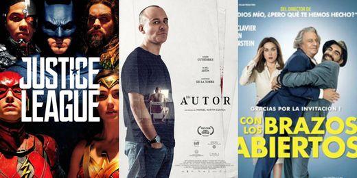 'Liga de la Justicia', 'El autor' y la comedia francesa 'Con los brazos abiertos', estrenos de hoy